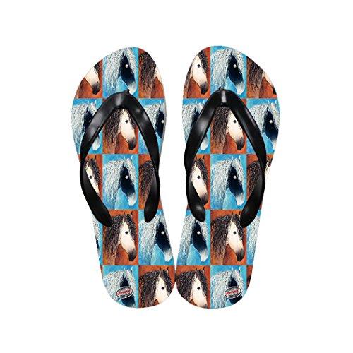 Buckskin Quarter Horse (Art by Denise Every Casual Flip Flop Sandals - Buttermilk Buckskin Quarter Horse Abstract Pattern)