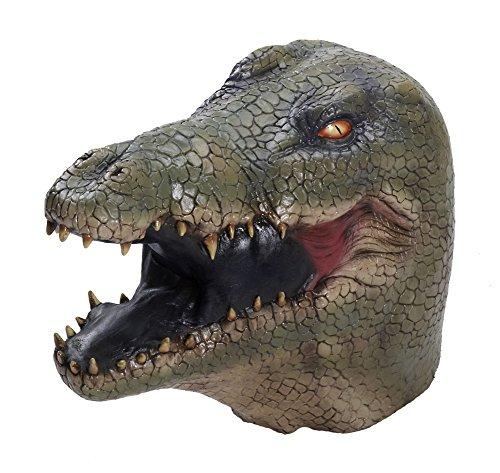 [Adult Dinosaur Crocodile Reptile Latex Costume Mask] (Youre Next Costume)