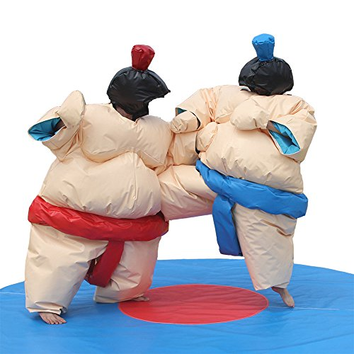 Cheap Sumo Wrestling Suits (Professional Wrestling Sumo Suit Adult Pair Wrestler Dress Sport Entertainment Costume; 2 Suits Set)