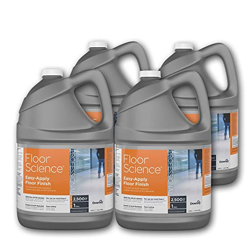 Floor Science Cleaner - Diversey Floor Science Professional Easy-Apply Floor Finish, 1 Gallon - Covers up to 2,500 SQ FT (4 Pack)