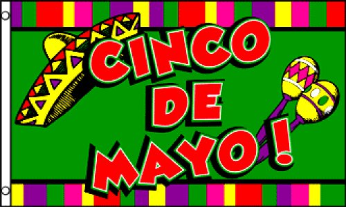 Cinco De Mayo Flag 3x5ft Poly