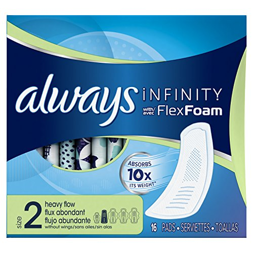 Always Infinity Heavy Flow Without Wings 16 ct.