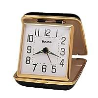 Bulova B6112 Reliable II Clock, Black Case