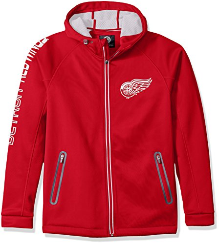 G-III Sports NHL Detroit Wings Adult Men Motion Full Zip Hooded Jacket, X-Large, Red