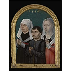 Oil Painting 'Master Of The Legend Of St. Ursula,Diptych With The Virgin, Child, Three Donors R,1486' 30 x 40 inch / 76 x 101 cm , on High Definition HD canvas prints, Basement, Living Room, S decor