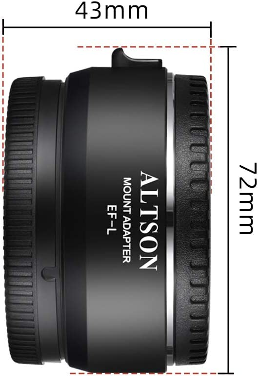 ALTSON EF-L Camera Lens Adapter Ring Auto Focusing EXIF Transmission Anti-shaking with 1//4 Thread Compatible with Panasonic S1//S1R//S1H//S5 Camera to Canon EF//EF-S Mount Lens