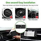 UGREEN Car Vent Mount Holder Air Vent Mount Phone Holder for iPhone 7/7 Plus/6S/6 Plus 5S SE, Samsung Galaxy S7/S6 edge/S6 Cell Phones, GPS and Other Smartphones Up to 3.45 Inches Wide Black