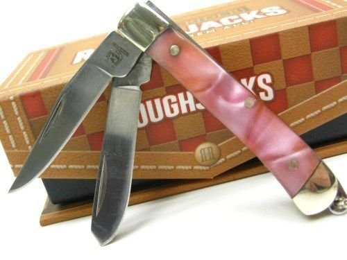 Pearl Mini Trapper (ROUGH RIDER Pink Pearl MINI TRAPPER 2 Blade Folding Pocket ProTactical'US - Limited Edition - Elite Knife with Sharp Blade New! OSB1552)