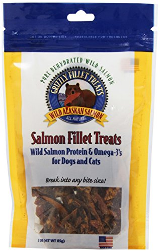 Grizzly Salmon Fillet Treats For Dogs And Cats, 3-Ounce ()