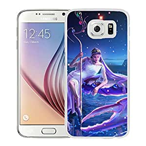 Beautiful And Unique Designed With Zodiac Sign Cancer Water Girl (2) For Samsung Galaxy S6 Phone Case
