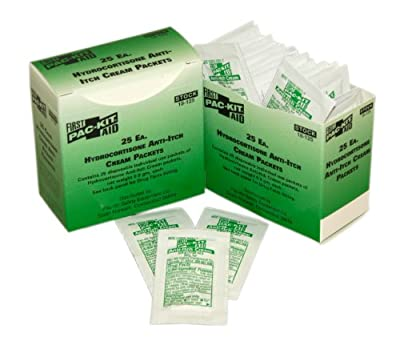 Pac-Kit by First Aid Only 18-125 Hydrocortisone Cream Packet (Box of 25) from Pac-Kit