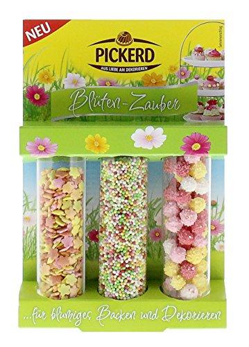 Pickerd - 3er Set Blüten-Zauber Back-Dekoration - 71g