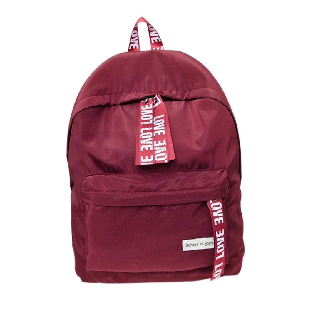Lolittas Travel Large Backpack for Women School Bag Adult Girls, Sling Shoulder Crossbody Lightweight String (Black)
