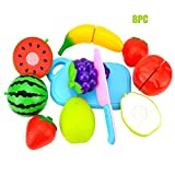 MEET 23PCS Cutting Toys Play Food Fruits Vegetable Kitchen Playset Educational Learning Toy Boy Girl Kid with Handbag Packing Plastic