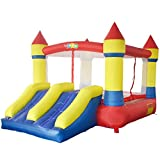 YARD Bounce House Dual Slide with Blower Indoor Outdoor Moonwalk Inflatable Bouncer Made of Nylon and Vinyl 12.1x8.5x6.9