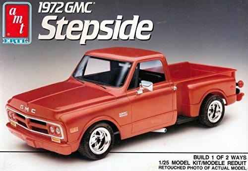 AMT 1972 GMC Stepside Pickup Truck 1/25 Scale Vintage 1990 Model Kit