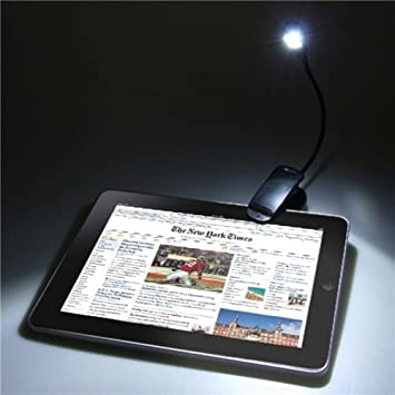 Mini LED Luz Lámpara Portátil Con Clip Brazo Flexible Para eBook ...