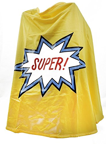 Children's Super Hero Costume Cape Yellow ()