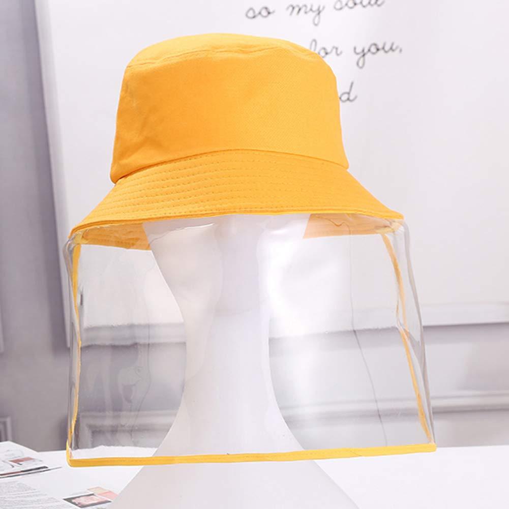 Domybest Cappello da Pescatore Antiappannamento Antivento Cappuccio Protettivo Anti-sputo Protezione Facciale con Visiera Rimovibile Protezione UV Visiera Protettiva Trasparente per Adulti e Bambini