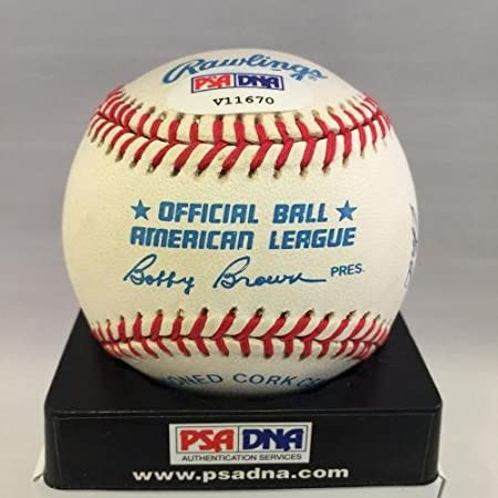f27e6c87084 Jim Catfish Hunter Signed Baseball - Official American League - PSA DNA  Certified - Autographed Baseballs at Amazon s Sports Collectibles Store
