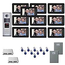 Office Building Video Entry Ten 7 video monitor door camera kit