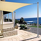Patio Outdoor Sun Shade Sail Canopy Steel Stand