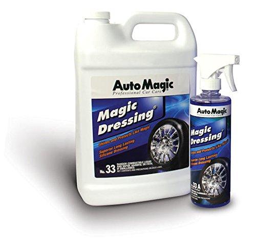 Magic Dressing by Auto Magic - Superior Long Lasting Silicone Tire Shine - 1 Gallon
