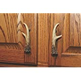 River's Edge Antler Drawer Pull (Pack of 2), Brown