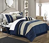 Blue King Size Comforter Chic Home Carlton 6-Piece Comforter Set, King Size, Navy