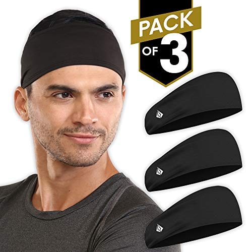 IGN1TE Mens Headband - Running Sweat Head Bands for Sports - Athletic Sweatbands for Workout/Exercise, Tennis & Football - Ultimate Performance Stretch & Moisture Wicking (Best Exercises For Football)