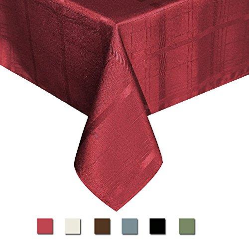 Eforcurtain Elegant Plaid Rectangular Tablecloth Fabric Poly