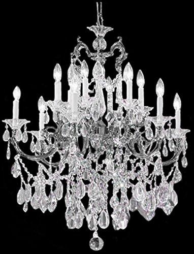 Classic Lighting 57013 EP C Via Venteo, Crystal, Chandelier, Ebony Pearl