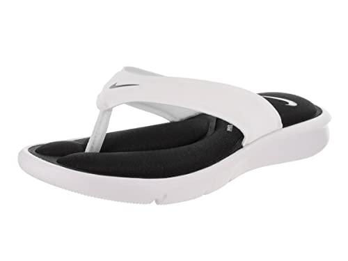 Nike Womens Ultra Comfort Thong Black White Synthetic Sandals 6.5 UK