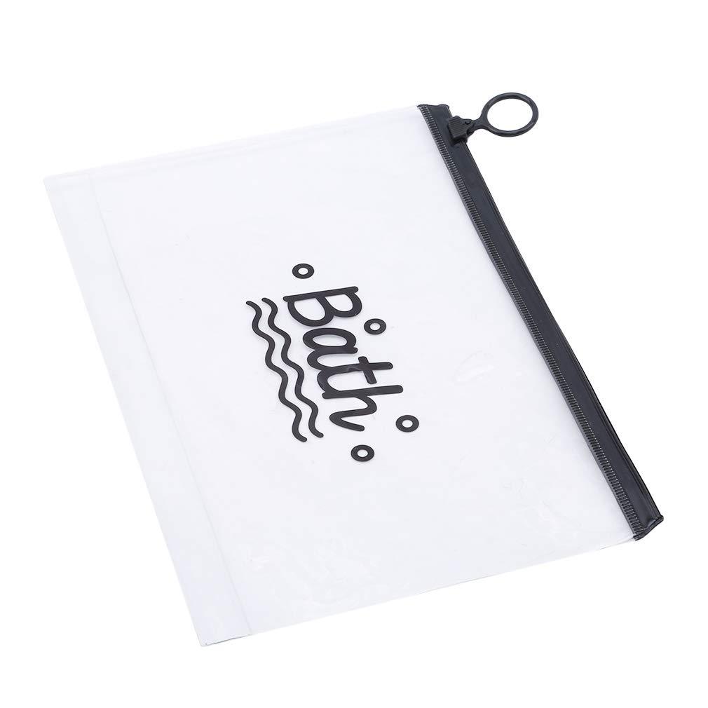 PVC con Cremallera Bolsa de Aseo para cosm/éticos Small Pasta de Dientes Leaf Pinhan para Viaje Bolsa para Cepillo de Dientes port/átil Impermeable Transparente