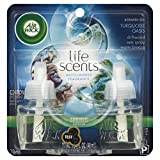 Air Wick Scented Oil Twin Refill Life Scents Turquoise Oasis (Driftwood/Sea Spray/Warm Breeze) (2X.67) Oz. (Pack of 5)