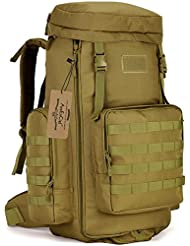 ArcEnCiel 70-85L Large Capacity Tactical Travel Backpack MOLLE Rucksack Outdoor Travel Bag for Travelling Trekking...