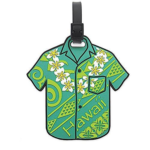 loha Shirt Green (Hawaiian Shirt Luggage Tag)