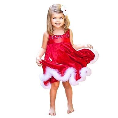 bdf76b8fd52 Internet Bébé Filles Enfants Noël Parti Rouge Paillette Tutu Robes de Noël  Coton Robes (90