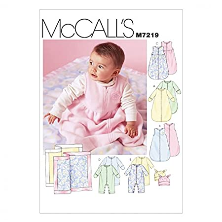 McCalls Baby Easy Sewing Pattern 7219 Snuggle Bags, Jumpsuits, Hats ...