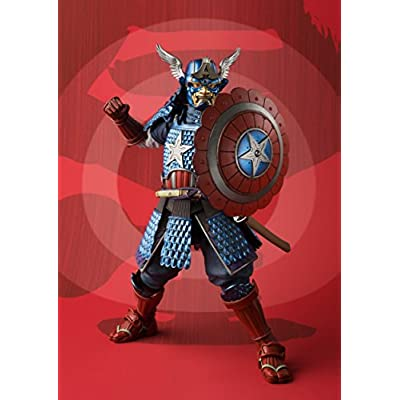 BLUEFIN Bandai Tamashii Nations Meisho Manga Realization Samurai Captain America Action Figure: Bandai Tamashii Nations: Toys & Games