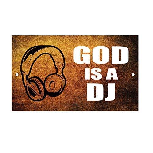 Tarfy God is A DJ Retro Vintage Cartel de Chapa Decoración ...