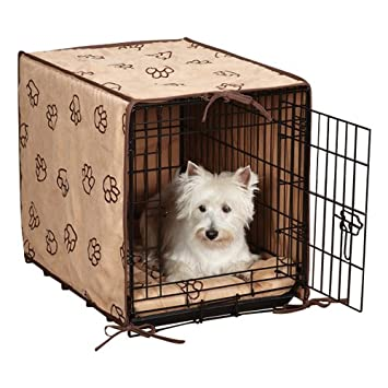 ProSelect Polyester Pawprint Dog Crate Cover and Bed Set
