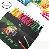 Happyyous 72 PCS Professional Colored Pencils Set,Best Oil Based Colored Pencils for Adult