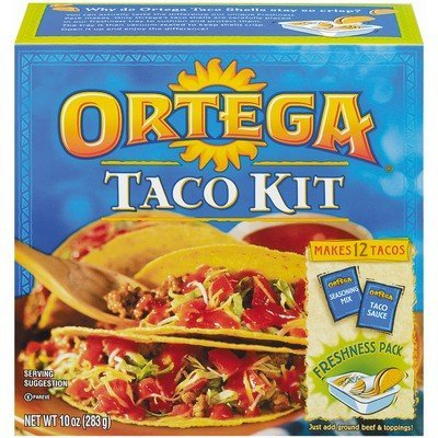 Ortega Taco Dinner Kit 12 Taco Shells 10 Oz. Pack Of (Ortega Taco Dinner)