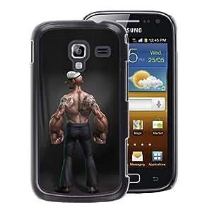 A-type Arte & diseño plástico duro Fundas Cover Cubre Hard Case Cover para Samsung Galaxy Ace 2 (Forearms Funny Bodybuilding Man Muscle)
