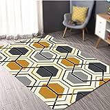 Modern Chinese geometric rugs / living room coffee table sofa mat / dresser carpet / bedroom bedside blanket / door mat ( Size : 140200cm )