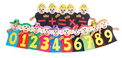 Fantoches da Matemática Feltro 25 Personagens Carlu Brinquedos