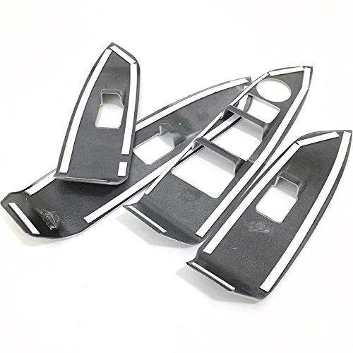 Flying High Conduite /à Gauche ABS Matte int/érieur Porte Couverture accoudoir Garniture 4pcs pour laccessoire de Voiture MZX3