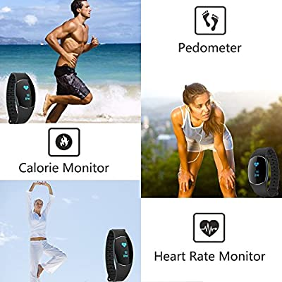 Fitness Trackers, Today 60% Off! IP67 Heart Rate Monitors Blood Pressure Calorie Step Distance Counter Sleep Quality Recorder Call SMS Reminder Shutter Remote Control. [Factory Store]