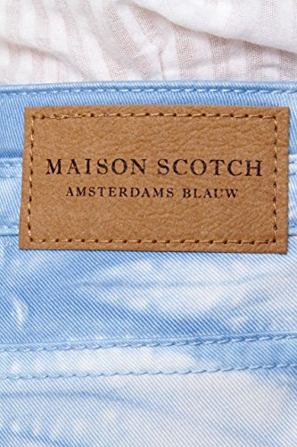 Maison Scotch Amsterdams Blauw Vaqueros Skinny LA PARISIENNE, Color: Celeste, Tamaño: 26/30